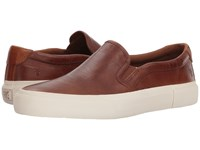 Frye Ludlow Slip On Cognac Goat Pull Up Slip On Shoes Brown