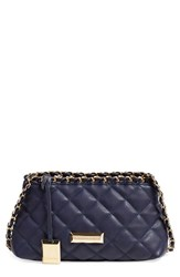 Catherine Catherine Malandrino 'Small Martine' Quilted Crossbody Bag Grey Ink
