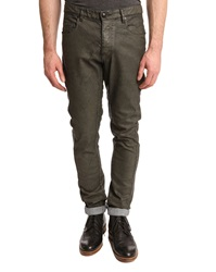 Ikks Grey Coated Structured Jeans