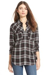 Women's Ace Delivery Plaid Shirt Black Ivory