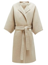 The Row Dreeton Belted Cashmere Coat Cream