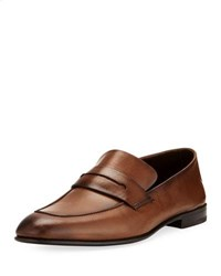 Ermenegildo Zegna Asola Napa Leather Penny Loafer Light Brown