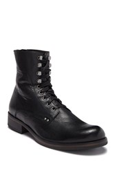 John Varvatos Star B Leather Lace Up Boot Black
