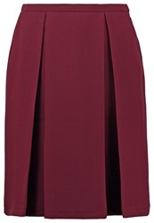 Kiomi September Pleated Skirt Bordeaux