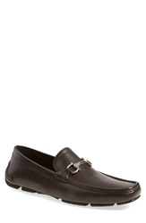 Salvatore Ferragamo 'Plum' Driving Shoe Men Hickory Leather