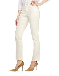 Nydj Sheri Slim Fit Straight Leg Jeans Cream