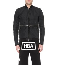 Hood By Air Zip Detail Shell Bomber Jacket Black