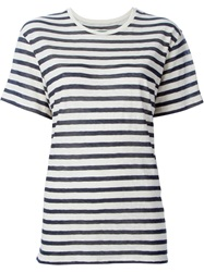 Nlst Striped Oversized T Shirt Blue