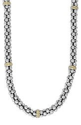 Lagos Women's Mini Caviar Tm Rope Necklace Silver Gold