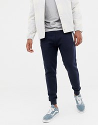 Another Influence Slim Fit Pannel Jogging Bottoms Navy