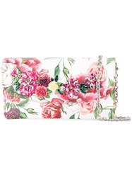Dolce And Gabbana Peony Print Clutch Bag Multicolour