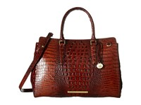 Brahmin Finley Carryall Pecan Handbags Brown