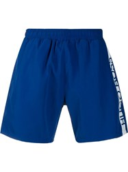 Hugo Boss Side Logo Swim Shorts Blue