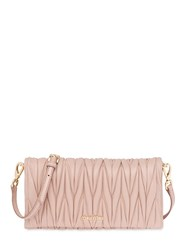 Miu Miu Quilted Leather Clutch Nude