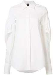 Vera Wang Puff Sleeve Shirt White