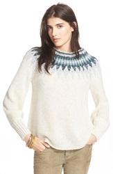 Free People 'Baltic Fairisle' Sweater Ivory Combo