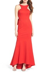 Xscape Evenings Women's Ponte Mermaid Gown Red