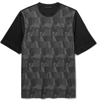 Christopher Kane Chritopher Printed Cotton Jerey T Hirt Gray
