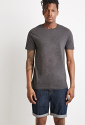 Forever 21 Classic Heathered Tee Charcoal Heather