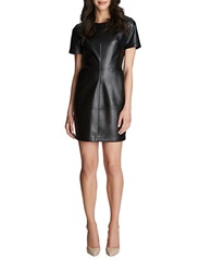 1 State Faux Leather Shift Dress Rich Black