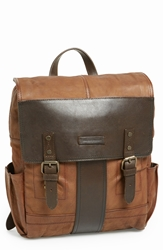 Frye 'Trevor' Buffalo Leather Backpack Taupe