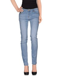 Duck Farm Denim Denim Trousers Women Blue