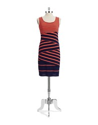 Spense Tiered Shift Dress Coral