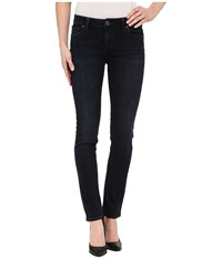 Kut From The Kloth Stevie Straight Leg Five Pocket Jeans In Virtuous W Euro Base Wash Virtuous Euro Base Wash Women's Jeans Black