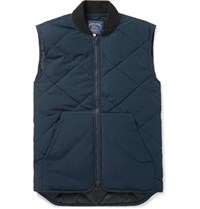 J.Crew Nordic Quilted Jersey Gilet Navy