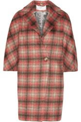 Thakoon Checked Knitted Coat Papaya