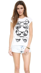 Happiness Sunglasses Tee White