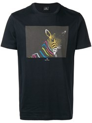 Paul Smith Ps By Print T Shirt Blue