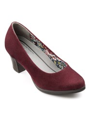 Hotter Angelica Ladies Dual Fit Court Shoe Maroon