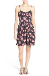 Women's Band Of Gypsies Floral Print Skater Dress