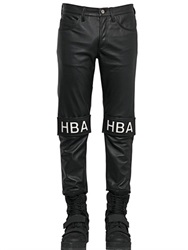 Hba Hood By Air 17Cm Velcro Patched Smooth Leather Jeans