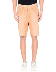 0 Zero Construction Trousers Bermuda Shorts Men Orange