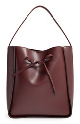 Sole Society Primm Faux Leather Bucket Bag Red