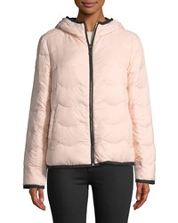 Kate Spade Hooded And Packable Down Jacket Pink