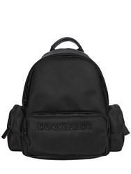 Dsquared Logo Embroidered Nylon Satin Backpack