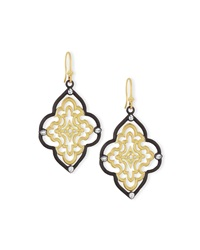 Old World Scroll Earrings With Diamonds Armenta