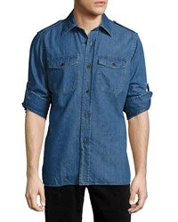 Tom Ford Denim Military Shirt Medium Blue