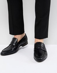 New Look Faux Leather Loafers In Black