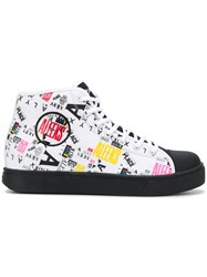 Alyx Print Hi Top Sneakers White