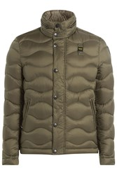 Blauer Wave Quilted Down Jacket Green