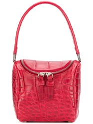 Giorgio Armani Vintage Zip Top Shoulder Bag Red
