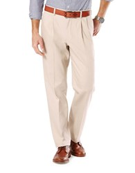Dockers Big And Tall Signature Stretch Pleated Pants Beige