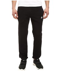 Nike Club Fleece Cuffed Pant Black White Men's Workout