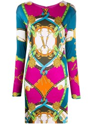 Versace Graphic Print Mini Dress 60