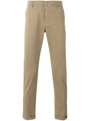 Pence Classic Cuffed Chinos Men Cotton Spandex Elastane 46 Nude Neutrals
