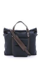 Mismo M S Soft Work Tote Navy Dark Brown